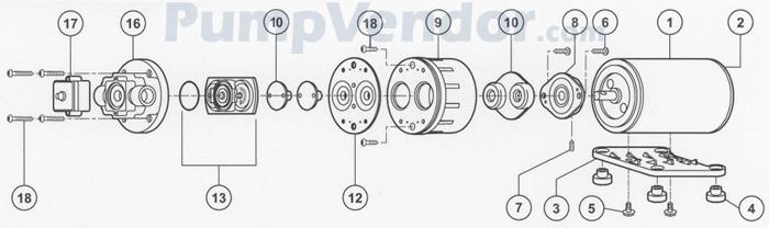 Flojet_02100-122_parts