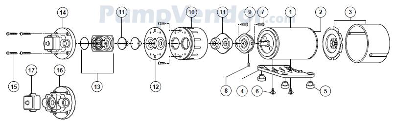 Flojet_02130-533V_parts