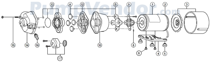 Flojet_04300-505-24V_parts