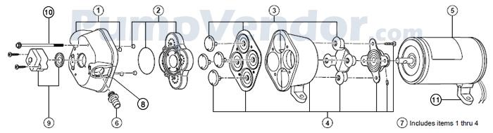 Flojet_04305-509C_parts