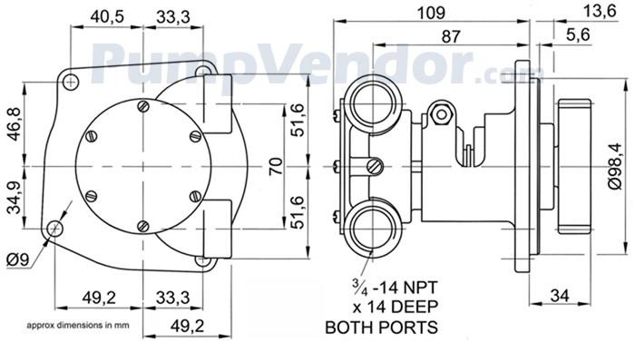 Jabsco 10970 Parts List