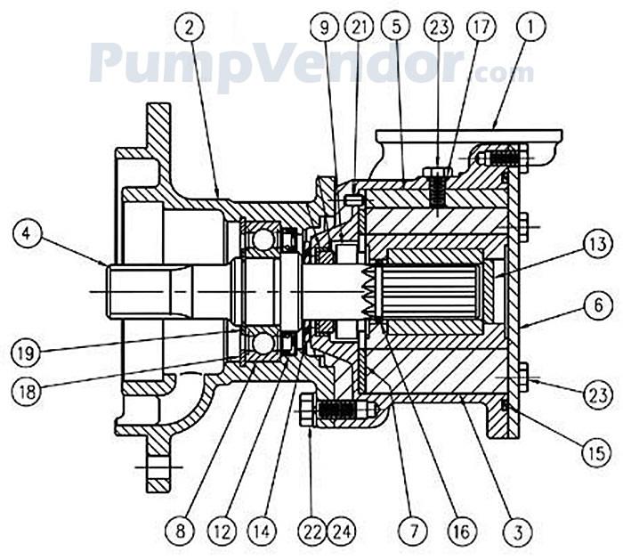 Jabsco 17810 1300 Parts List