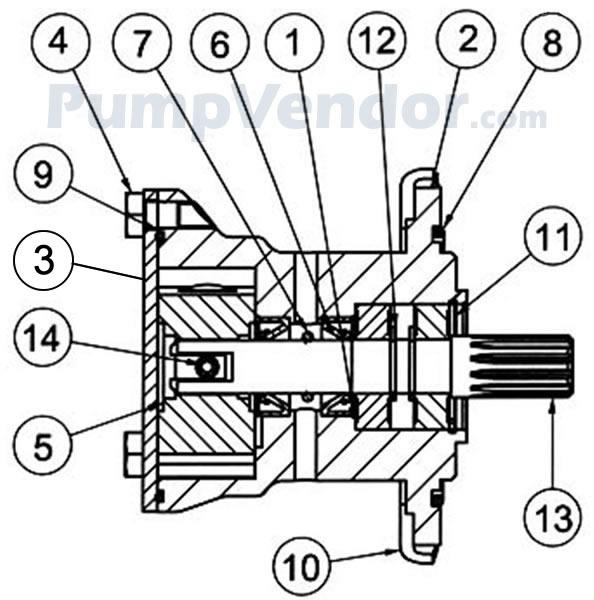 Jabsco 29460 1051 Parts List