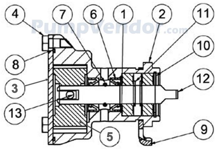 Jabsco 29460 1631 Parts List