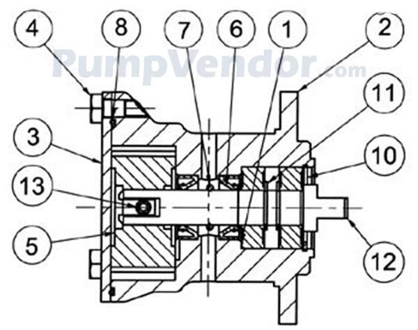 Jabsco 29460 1701 Parts List