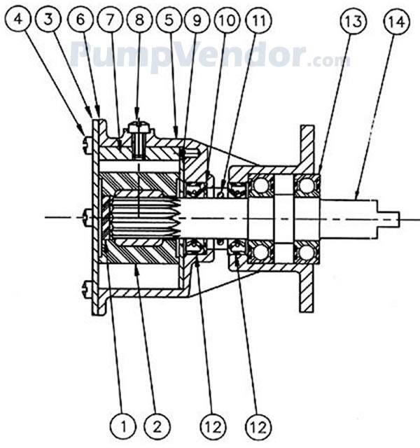 Jabsco 29500 1501 Parts List