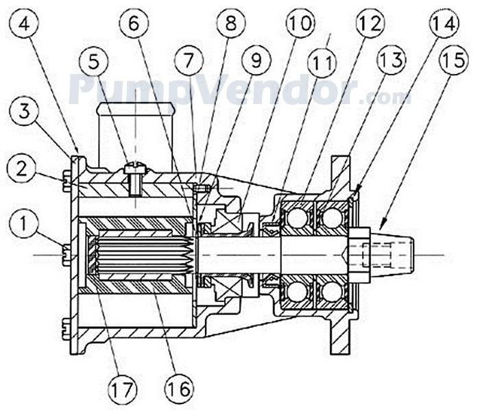 Jabsco 29600 1201 Parts List