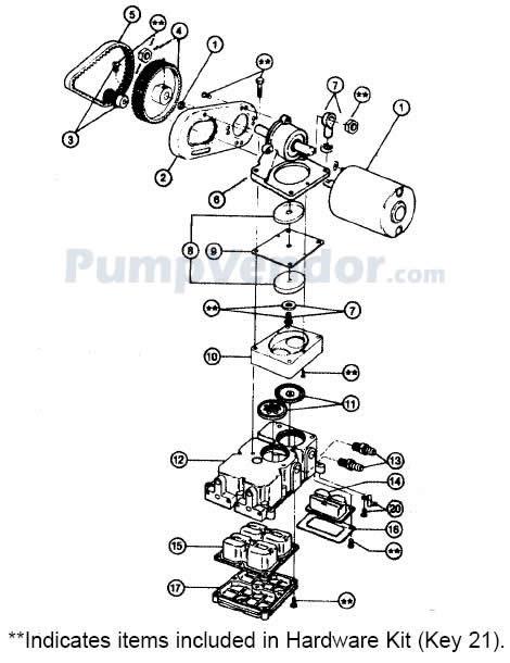 Jabsco 36600 Belt Driven Diaphragm Bilge Pump 12V