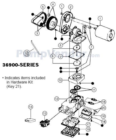 Jabsco 36900 1000 Parts List