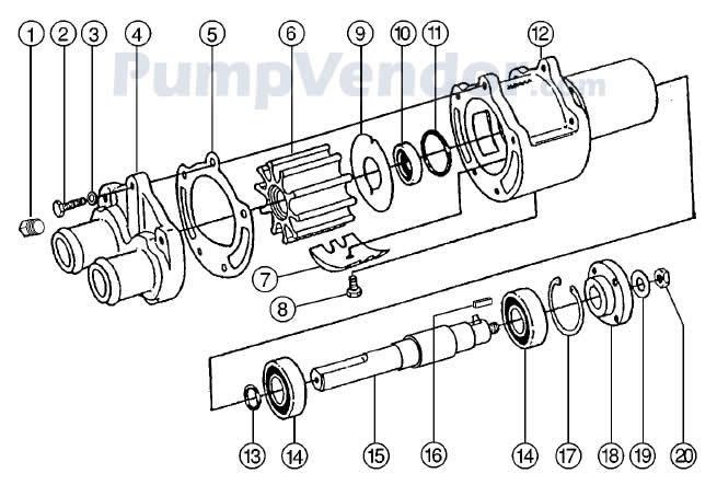 Jabsco 43210 0001 Parts List