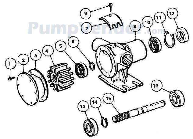 Jabsco 52040 2001 Parts List