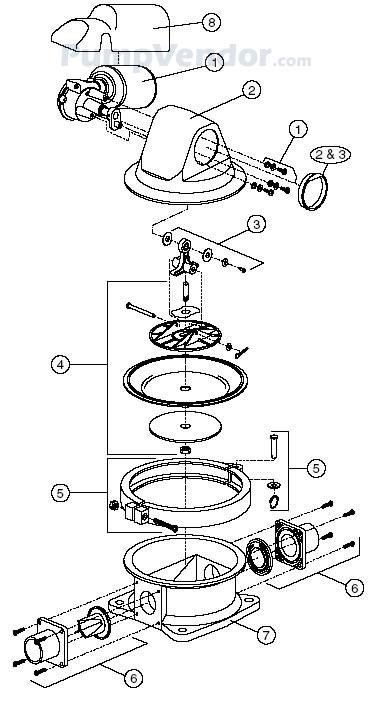 Jabsco 59090 0012 Parts List