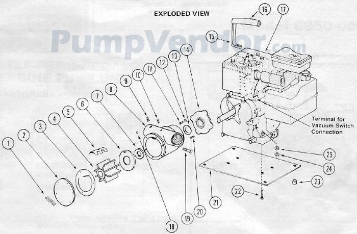 Jabsco 6850 0001 Parts List
