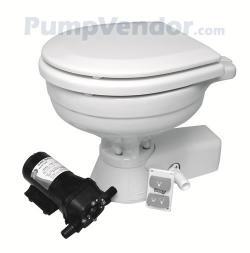 Jabsco 37245 1092 Quiet Flush Electric Toilet