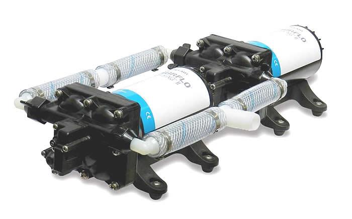 Shurflo 4558-163-E75 Dual Diaphragm Pump High Flow System II