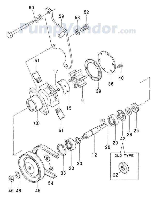 yanmar 2gm20f raw water pump - page 2